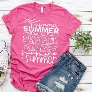 T-shirt, graphic tee, summer